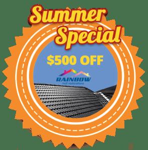 Summer Special - $500 off Roof Restorations